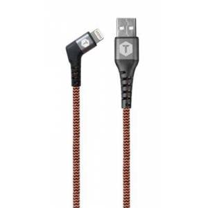 ToughTested 6' iPhone 5 Right-Angle Fabric Cable