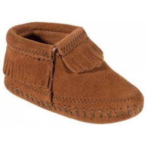 Minnetonka Moccasin Riley Booties - Brown - 0 Infant