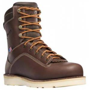 Danner Quarry USA GORE-TEX Alloy Toe Wedge Work Boots for Men - Brown - 11M