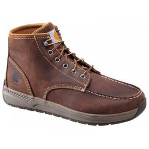 Carhartt Lightweight Casual Wedge Work Boots for Men - Brown Leather - 9M