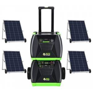 Huntkey Nature's Generator Elite Platinum 2,800W Solar-Powered Portable Generator System