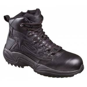 Reebok Rapid Response RB Side-Zip Safety Toe Tactical Work Boots for Men - Black - 6W