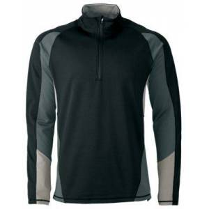 Cabela's E.C.W.C.S. Thermal Zone Base Layer Quarter-Zip Long-Sleeve Pullover for Men - Black/Gray - M