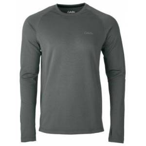 Cabela's E.C.W.C.S. Midweight Base Layer Long-Sleeve Crew for Men - Charcoal - M