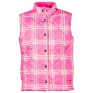 Bass Pro Shops Plaid Quilted Vest for Girls - Pink Plaid - XL