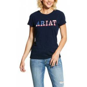 Ariat REAL Ariat Stars Short-Sleeve T-Shirt for Ladies - Navy - 1X