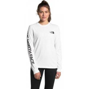 The North Face Brand Long-Sleeve Shirt for Ladies - TNF White/TNF Black - M