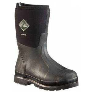 Muck Boot Company The Original Muck Boot Company Chore Mid Waterproof Work Boots for Men - Black - 9M