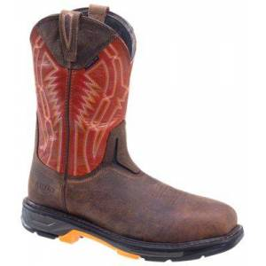Rio Ariat Workhog XT Dare Carbon Toe Pull-On Work Boots for Men - Brown - 12M