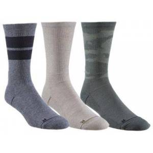 Under Armour Phenom Crew Socks for Men 3-Pair Pack - Green Assorted - L