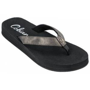 Cobian Cancun Nuve Thong Sandals for Ladies - Pewter - 6M