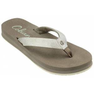 Cobian Cancun Nuve Thong Sandals for Ladies - Champagne - 6M