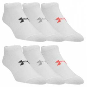 Under Armour Essential 2.0 No Show Socks for Ladies - White - M