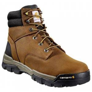 Carhartt Ground Force 6'' Waterproof Composite-Toe Work Boots For Men - Brown - 9.5W