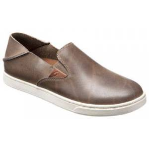 OluKai Pehuea Leather Slip-On Shoes for Ladies - Espresso/Espresso - 9.5M