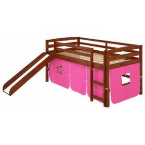 Chelsea Home Furniture Aria Tent Loft Bed with Slide and Ladder - Pink