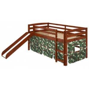 Chelsea Home Furniture Aria Tent Loft Bed with Slide and Ladder - Camo