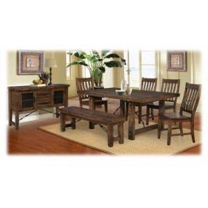Chelsea Home Furniture Rustic Lodge Dining Room Collection 7-Piece Dining Set