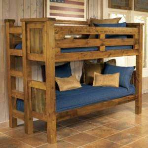 Mountain Woods Furniture The Wyoming Collection Twin Bunk Bed
