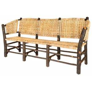 Old Hickory Furniture No. 120 Vintage 3-Seat Settee