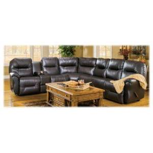 Best Home Furnishings Bodie Leather Sectional - Chocolate