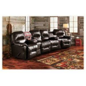 Best Home Furnishings Bodie 4-Seat Leather Sectional - Chocolate