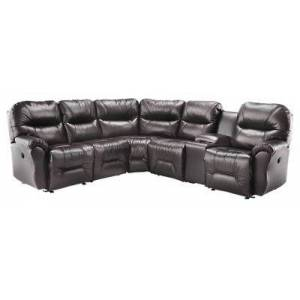 Best Home Furnishings Bodie 5-Seat Leather Sectional - Chocolate