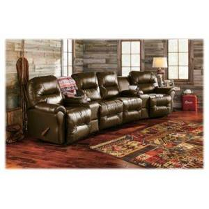 Best Home Furnishings Bodie 4-Seat Leather Sectional - Camel