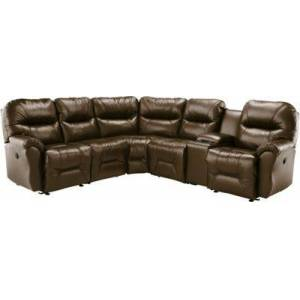 Best Home Furnishings Bodie 5-Seat Leather Sectional - Camel
