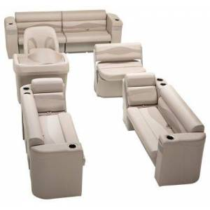 Taylor Made Platinum Series Deluxe Pontoon Seating Furniture Set - Beige