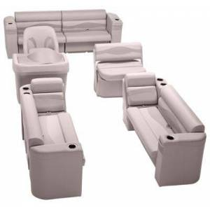 Taylor Made Platinum Series Deluxe Pontoon Seating Furniture Set - Champagne