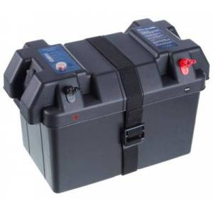 Universal Power Group Marine Battery Power Box for Group 24 and 27 Batteries