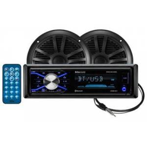 Boss Audio Marine MP3-Compatible Digital Media AM/FM Receiver with Bluetooth and Speakers