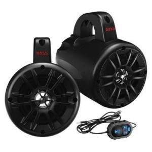 """Boss Audio Systems Power Pod Rugged 4"""" Bluetooth ATV/UTV/Waketower Speaker Pair with Built-In 500W 2-Channel Class D Amp"""