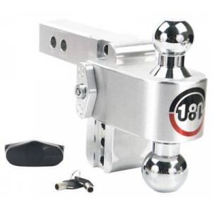 Weigh Safe CTB 180\u00b0 Hitch with Stainless Steel Combo Ball - 4'' Drop for a 2'' Receiver