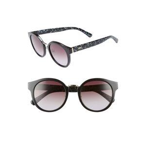 Longchamp Women's Longchamp 51mm Round Sunglasses - Marble Black