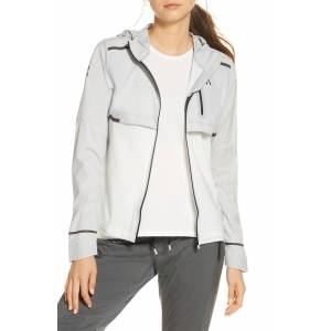 On Women's On Weather Water Repellent Hooded Jacket, Size Small - Grey