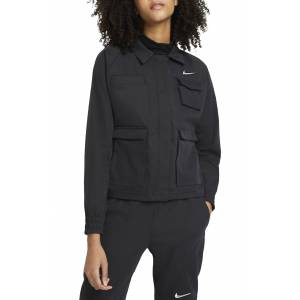 Nike Women's Nike Swoosh Woven Track Jacket, Size X-Large - Black