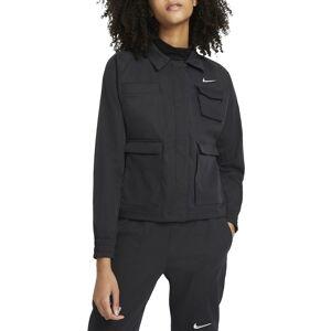 Nike Women's Nike Swoosh Woven Track Jacket, Size Large - Black