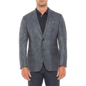 Emporio Armani Men's Emporio Armani Textured Wool Blend Sport Coat, Size 46 US - Blue