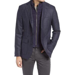 Robert Graham Men's Robert Graham Downhill Xiv Tailored Fit Wool & Cashmere Sport Coat, Size 44 - Blue