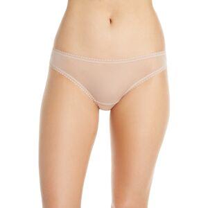 On Gossamer Women's On Gossamer Mesh Bikini, Size Large - Beige