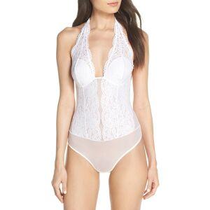 b.tempt'D by Wacoal Women's B.tempt'D By Wacoal Ciao Bella Lace Bodysuit, Size Large - White