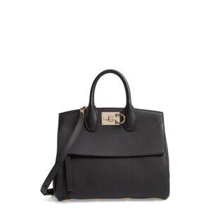 Salvatore Ferragamo Small The Studio Leather Top Handle Bag - Black