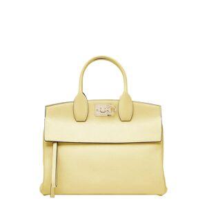 Salvatore Ferragamo The Studio Leather Top Handle Bag - Yellow