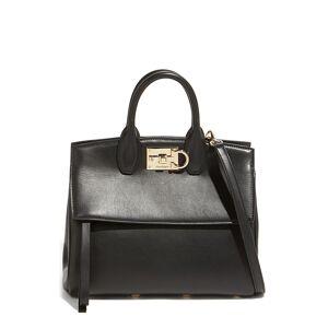 Salvatore Ferragamo The Studio Leather Top Handle Bag - Black