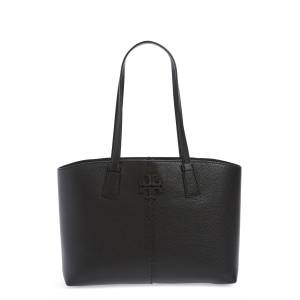 Tory Burch Small Mcgraw Leather Tote - Black