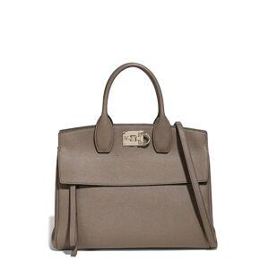 Salvatore Ferragamo The Studio Leather Top Handle Bag - Grey