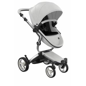 mima Infant Mima Xari 2020 Silver Chassis Stroller With Reversible Reclining Seat & Carrycot, Size One Size - White