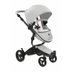 mima Infant Mima Xari 2020 Black Chassis Stroller With Reversible Reclining Seat & Carrycot, Size One Size - White